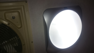 image of the new LED ceiling light reassembled and switched on ...
